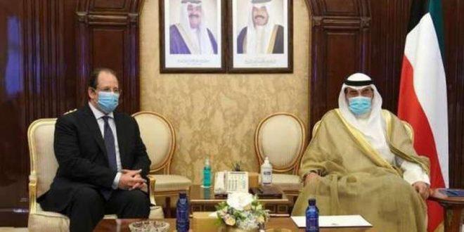 رئيس الوزراء الكويتي يستقبل رئيس المخابرات العامة المصرية