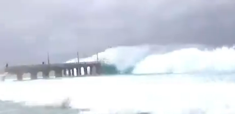 فيديو إعصار شاهين